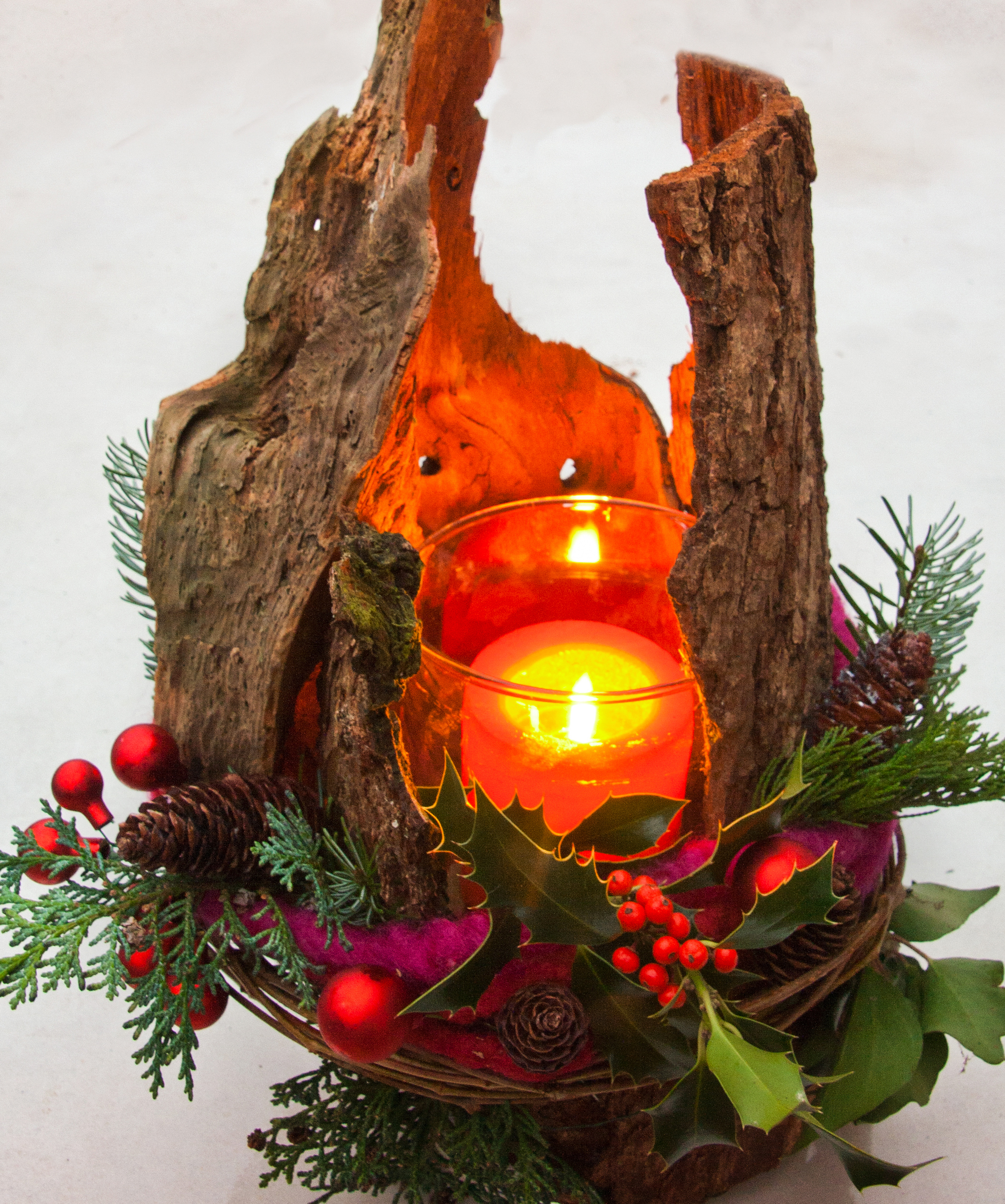 Weihnachtsdeko Rinde.Adventliche Lichter Aus Wurzeln Und Rinde Gartenratgeber